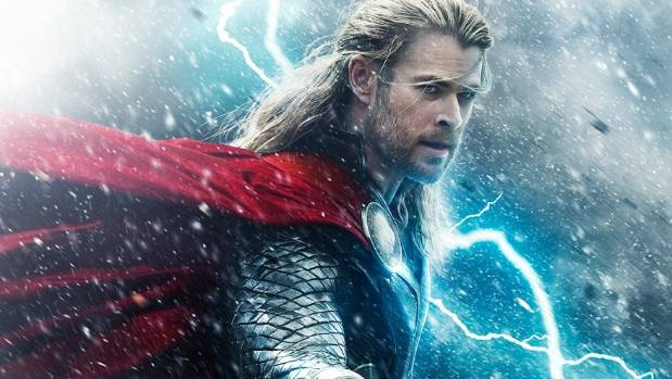 Chris Hemsworth as the title character in the Thor franchise.