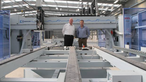 Bill Gee of Spanbild (L) and Mike Greer of Mike Greer Homes have a set up a joint venture of a new prefabrication site ...
