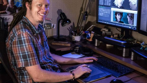 SCREEN SAVER: Campbell McGrouther working on How To Train Your Dragon 2