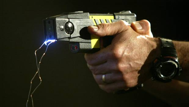 A taser was used to subdue the alleged attacker.