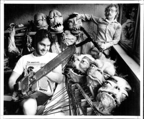 From the archives: Peter Jackson with his Bad Taste monsters in 1986.