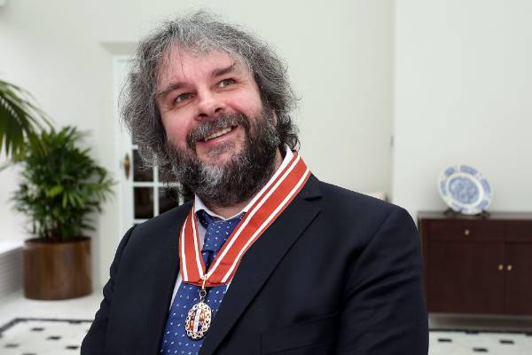 Peter Jackson after receiving  the Insignia of a Member of the Order of New Zealand, for services to New Zealand, at an ...