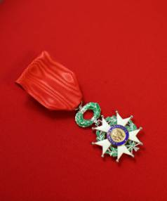 TOP HONOUR:  The Legion of Honour medal which was presented to Pippa Doyle.