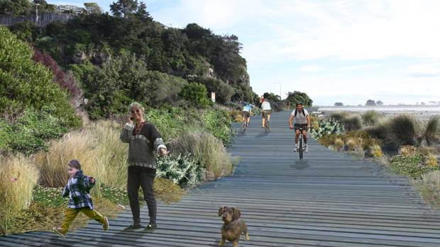 ENVIRONMENTAL VISION: The Christchurch Coastal Pathway envisages a linear park for walkers, cyclists, skaters, and ...