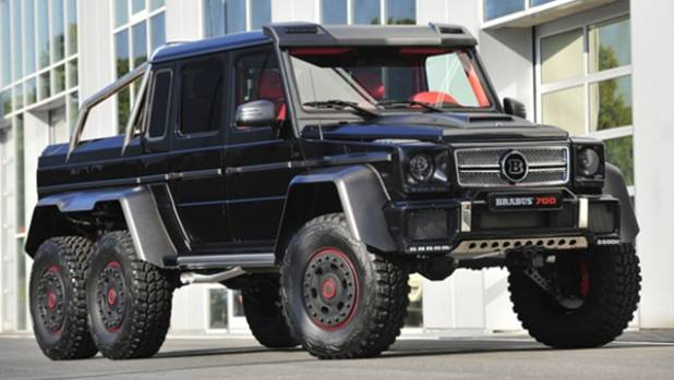 The Brabus-tuned 6x6 version of Mercedes' butch G-Wagen is pretty much a luxury tank It has a 5.5-litre V8 and does the ...