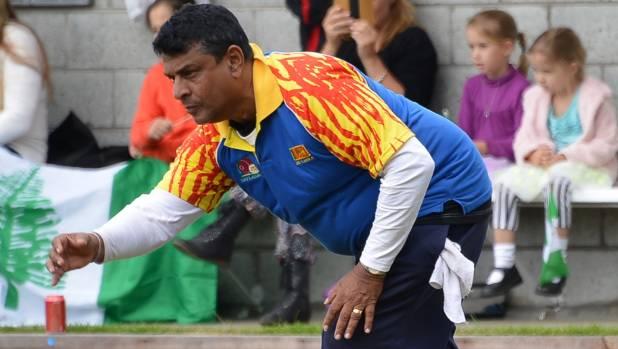 GREENHORN: Bowling on purpose-built Christchurch greens has been an eye opener for Sri Lanka's Susil Ramanayake.
