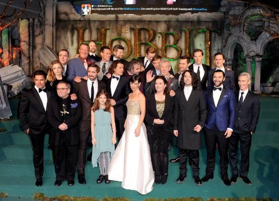 TEAM EFFORT: The Hobbit: The Battle Of The Five Armies cast and crew, including Manu Bennett, Sylvester McCoy, James ...