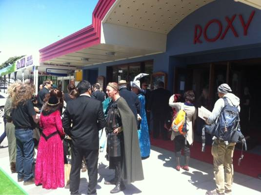 Fans mingle at Roxy Cinema in Wellington after the screening.