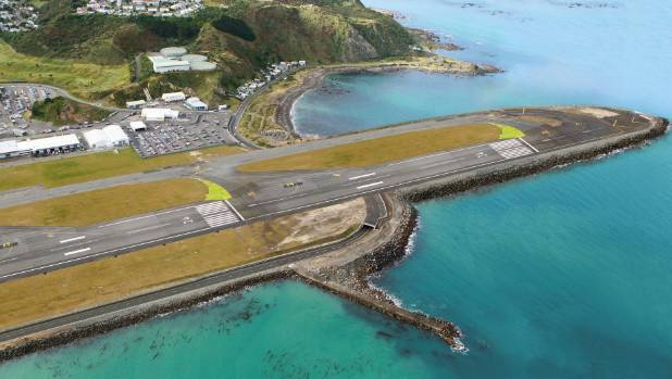 Wellington Airport - a computer generated image of a longer runway.