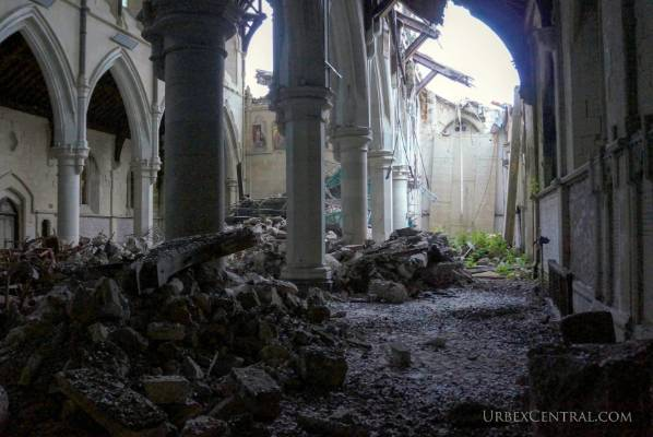 NOW: Bird droppings, books and rubble can be found inside the Christ Church Cathedral, as seen in these photos taken by ...