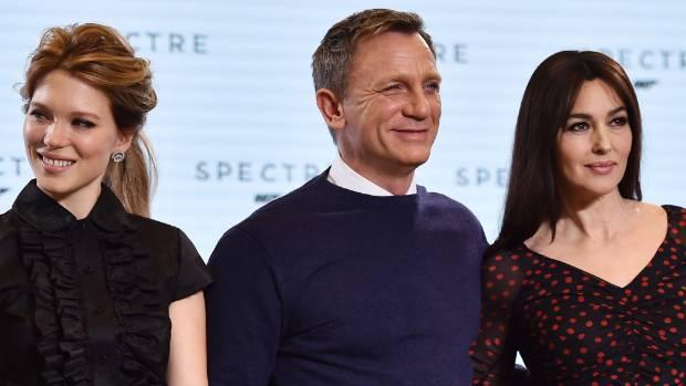 "Lea Seydoux (left) and Monica Bellucci will be are the new ""Bond girls"" alongside Daniel Craig in Spectre."