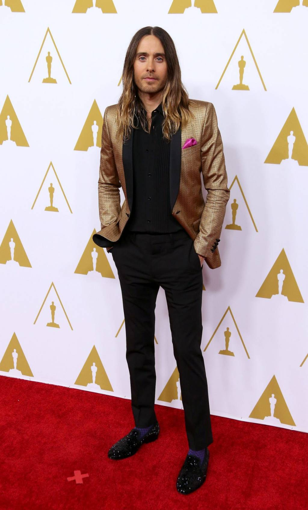 ed95bf551170 GOLDEN YEAR  Leto arrives at the Ocsars Nominees Luncheon at the Beverly  Hilton Hotel in