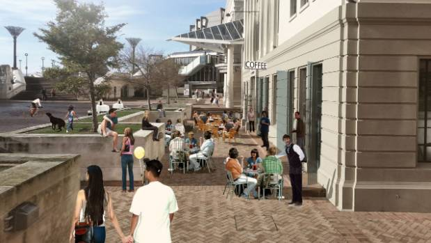 BIG REVAMP: Impressions of what public space around Civic Square could look like as part of a $100m plan to strengthen ...