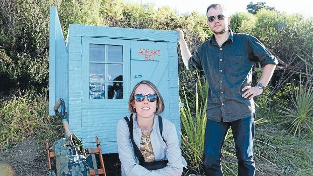 Cosy hut: Local artists Kemi Whitwell and Niko Leyden are connecting Wellingtonians through their latest art project ...