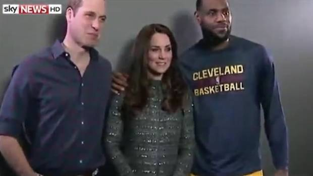 30db21580bdf LeBron James breaks royal protocol with Kate