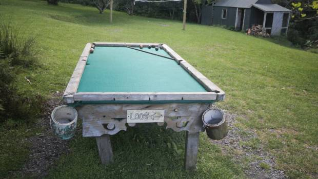 DOWN TIME: The pool table at Stony Bay.