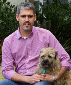 Massey University senior lecturer at the Institute of Veterinary, Animal and Biomedical Sciences, Nick Cave, with his ...