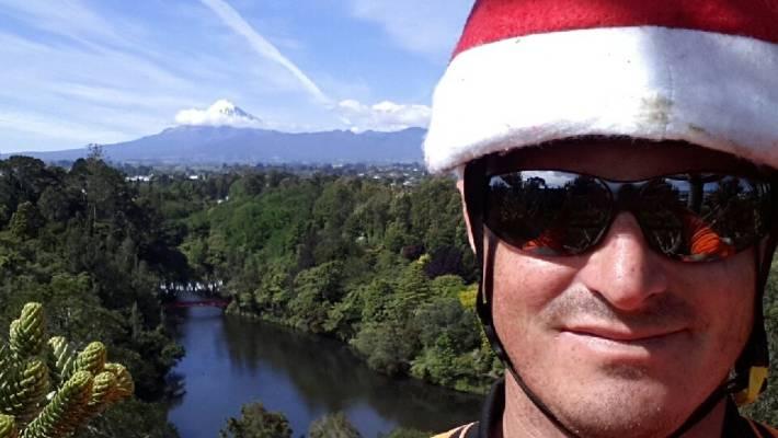 Arborist's Extreme Christmas Tree Selfie