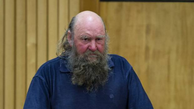 Nelson​ protester Lewis Stanton in the dock at a previous appearance in the Nelson District Court (file photo).