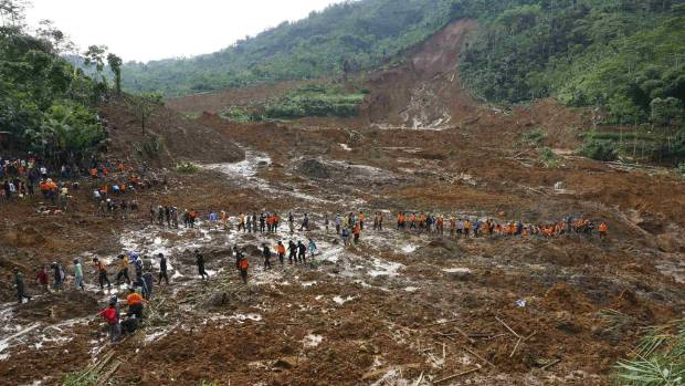 Search resumes for dozens missing in Indonesia landslide