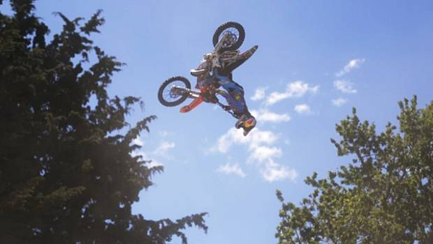 Freestyle rider Levi Sherwood putting life and limb on the line
