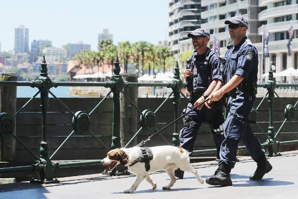 Police have been patrolling various sites in Sydney as the siege continues. Several landmarks were closed during the day.