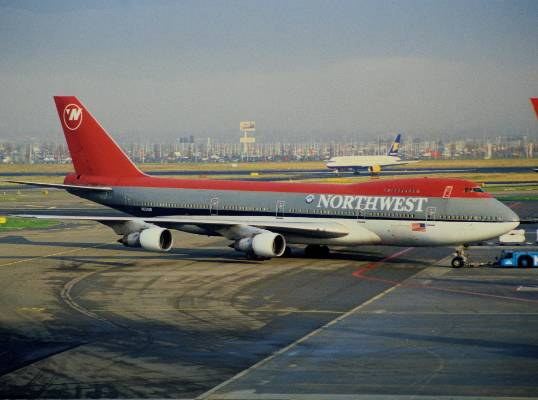 Northwest Airlines' red-and-grey 'bowling shoe' paint scheme wasn't necessarily one of the prettiest of all time, but it ...