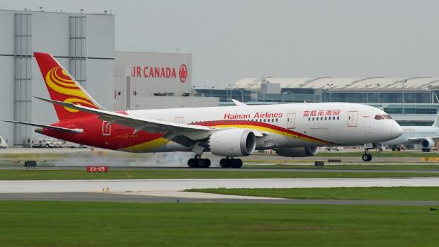 Hainan Airlines will fly between Auckland and Shenzen three times a week.