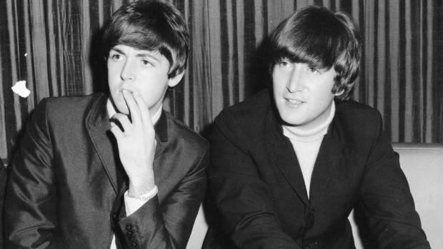 Paul McCartney And John Lennon At Sydney Press Conference June 1964