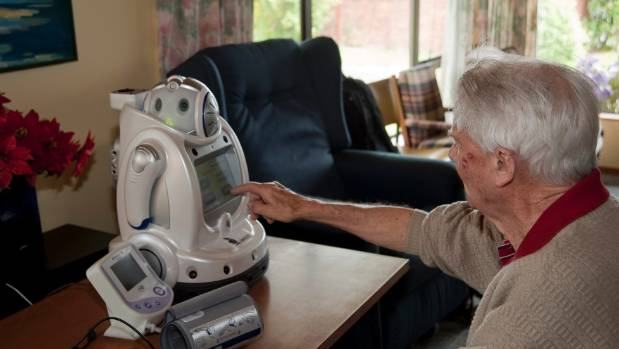 Robi, a robot designed for children, was modified  for use by elderly people.