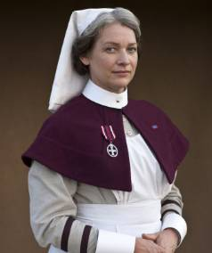 KERRY FOX: Plays Sister Margaret Quayle in the BBC's World War I drama The Crimson Field.