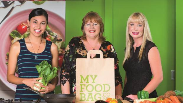 FULL PLATE Theresa Gattung, centre, finds the fast-growing business My Food Bag, which delivers ingredients and recipes ...