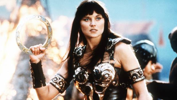 WHAT A BOSS: Lucy Lawless was physically imposing as Xena.