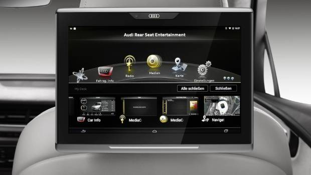 audi reveals ipad rival. Black Bedroom Furniture Sets. Home Design Ideas
