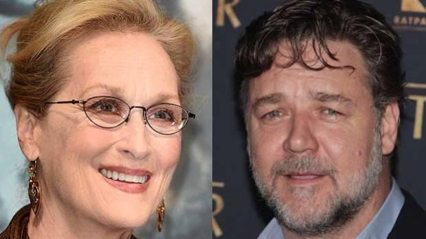 MISUNDERSTOOD: Meryl Streep has come to Russel Crowe's help.