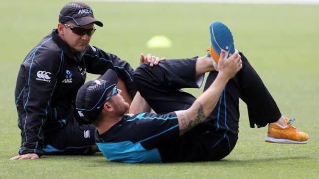 THE BRAINS TRUST: Black Caps coach Mike Hesson, left, and captain Brendon McCullum.