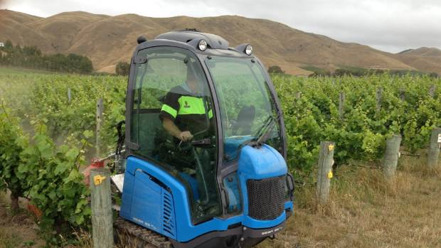 """A vineyard """"crawler"""" made by Geier, the same company that makes snow groomers for ski fields."""
