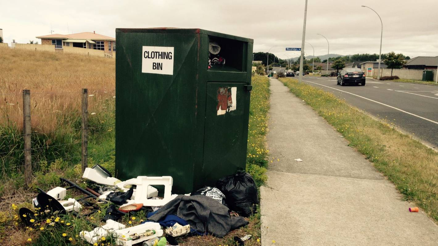 Clothing Bins Becoming Laden With Trash Stuff Co Nz