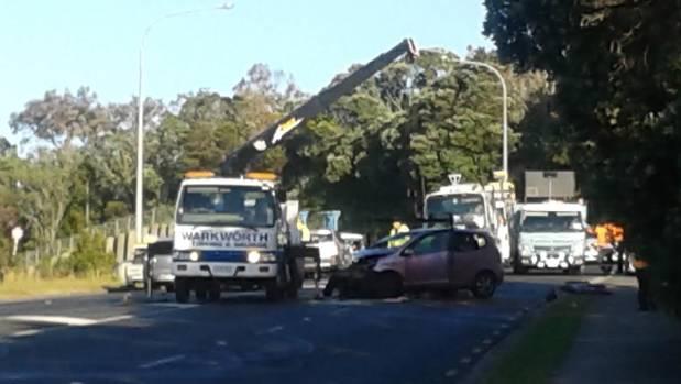 FATAL CRASH: A woman has died following a two-car crash at Red Beach in Whangaparaoa.