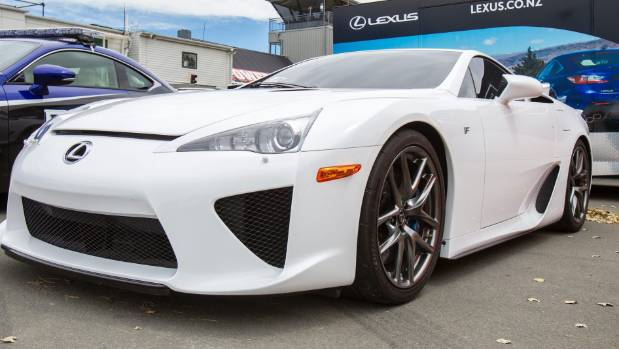 The White Lexus LF A Is Valued Between $750,000 And $1 Million.