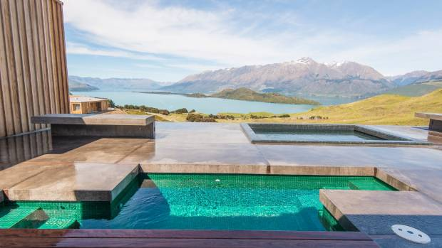 Aro Ha Wellness Retreat looks out over Lake Wakatipu.