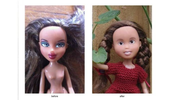 Artist gives sexy Bratz dolls 'make-unders' | Stuff co nz
