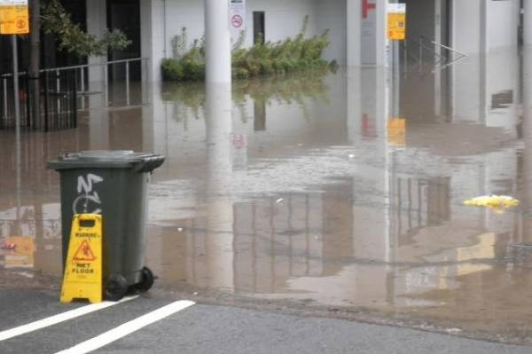 "Emma Marriott posted this to our Facebook page and said: ""When we had floods in Brisbane a few years back this sign was ..."
