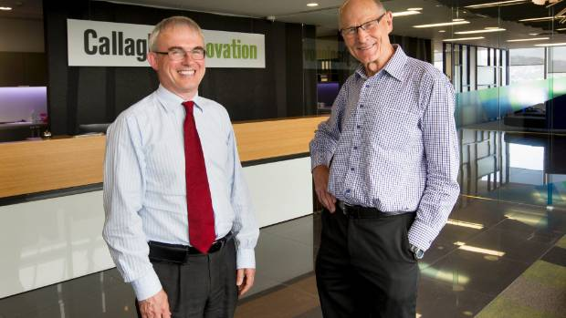 Power storage: Callaghan Innovation researchers Robert Holt, left, and Alister Gardiner have developed a method of ...