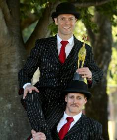 BEST INTERNATIONAL: The English Gents, Hamish McCann, left, and Denis Lock.