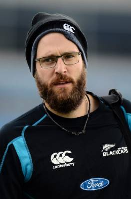 Daniel Vettori walks with his kit bag during the tour to England in 2013.
