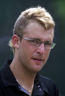 Daniel Vettori shows off his David Beckham-like hairstyle during a practice session in Sri Lanka's capital Colombo in 2003.