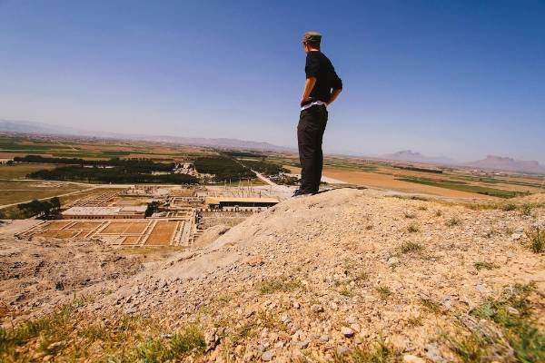 Mike O'Connor above Persepolis, Farz province.