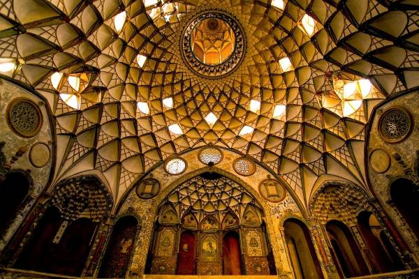 The roof inside a house in Kashan.