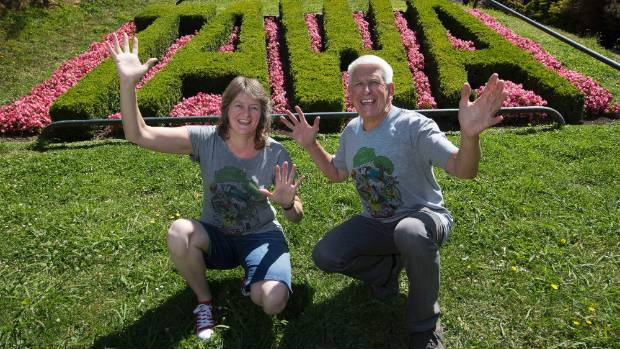 A GOOD SIGN: Robyn Parkinson and Malcolm Sparrow are celebrating Tawa jumping to the top of the neighbourly.co.nz ...